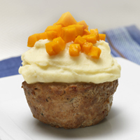 Southwestern Meatloaf Cupcakes with Mashed Potato Piping