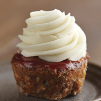 Meatloaf Cupcakes with Mashed Potato Piping
