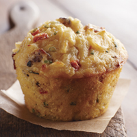 Hashbrown Bacon Corn Cupcakes