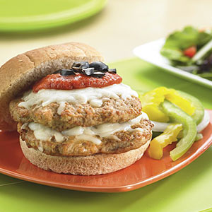 Pizza Turkey Burger