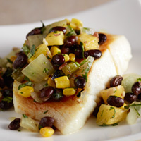 Roasted Pineapple, Corn & Bean Salsa