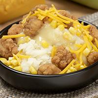 Chicken & Gravy Mashed Potato Bowl