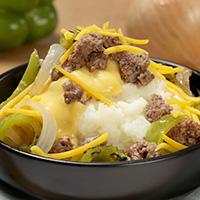 Cheeseburger Mashed Potato Bowl