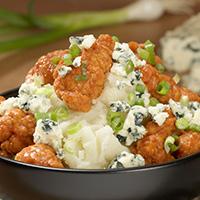 Buffalo Chicken Mashed Potato Bowl