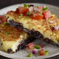 Black Bean Potato Pancakes
