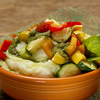 Vegetable Pesto Mashed Potato Bowl