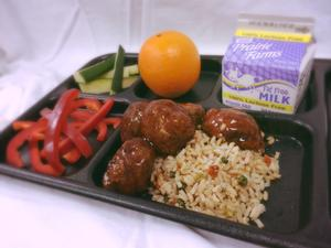 BBQ Teriyaki Meatballs with Asian Stir Fried Rice