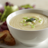 Celery Root & Potato Chowder