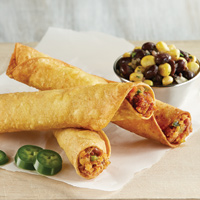 Sweet Potato & Bean Taquitos