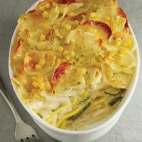 Braided Zucchini & Potato Casserole
