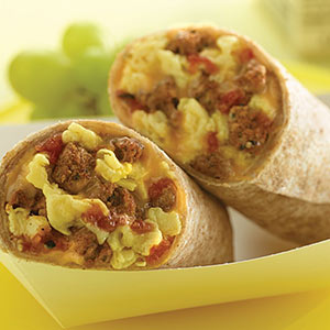 Chorizo Turkey Breakfast Burrito