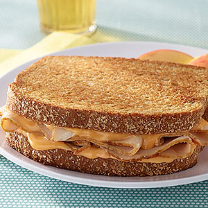 Tangy Toasted Turkey & Cheese Sandwich