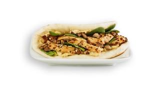 Chicken Portabella Flatbread Sandwich